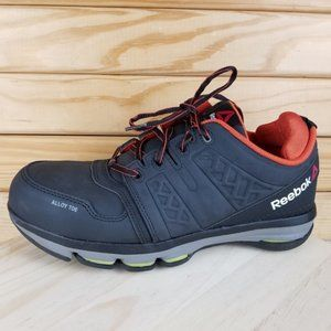 Reebok Leather EH Work DMX Flex Alloy-Toe Safety Shoes RB3602 Lace-up 9.5 WIDE